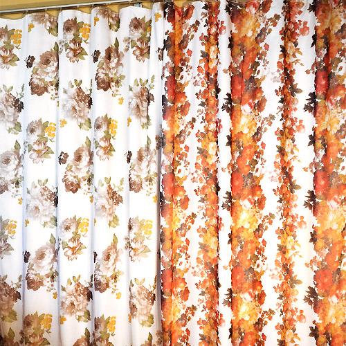 Комплект двусторонних штор «Пион и нежность»