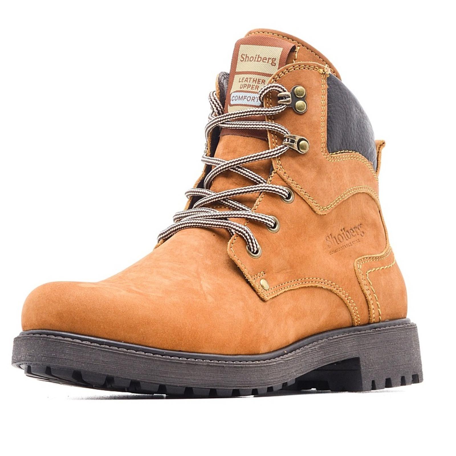 Ботинки мужские с кожаными вставками