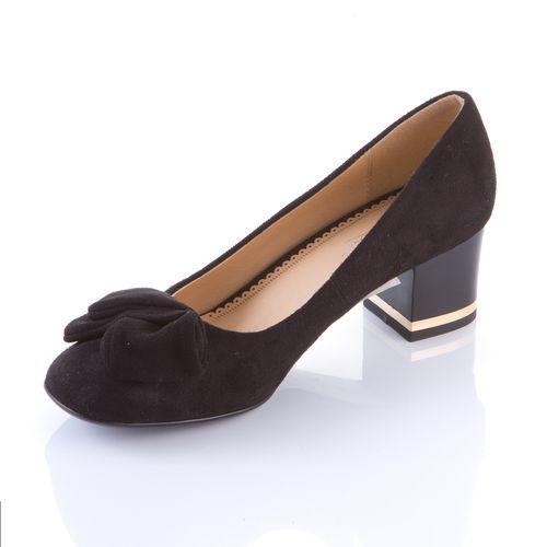 Велюровые туфли с бантом