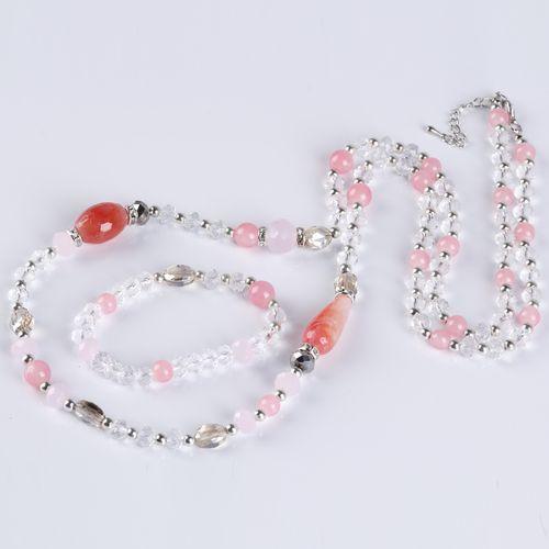 Комплект украшений «Розовая дымка»