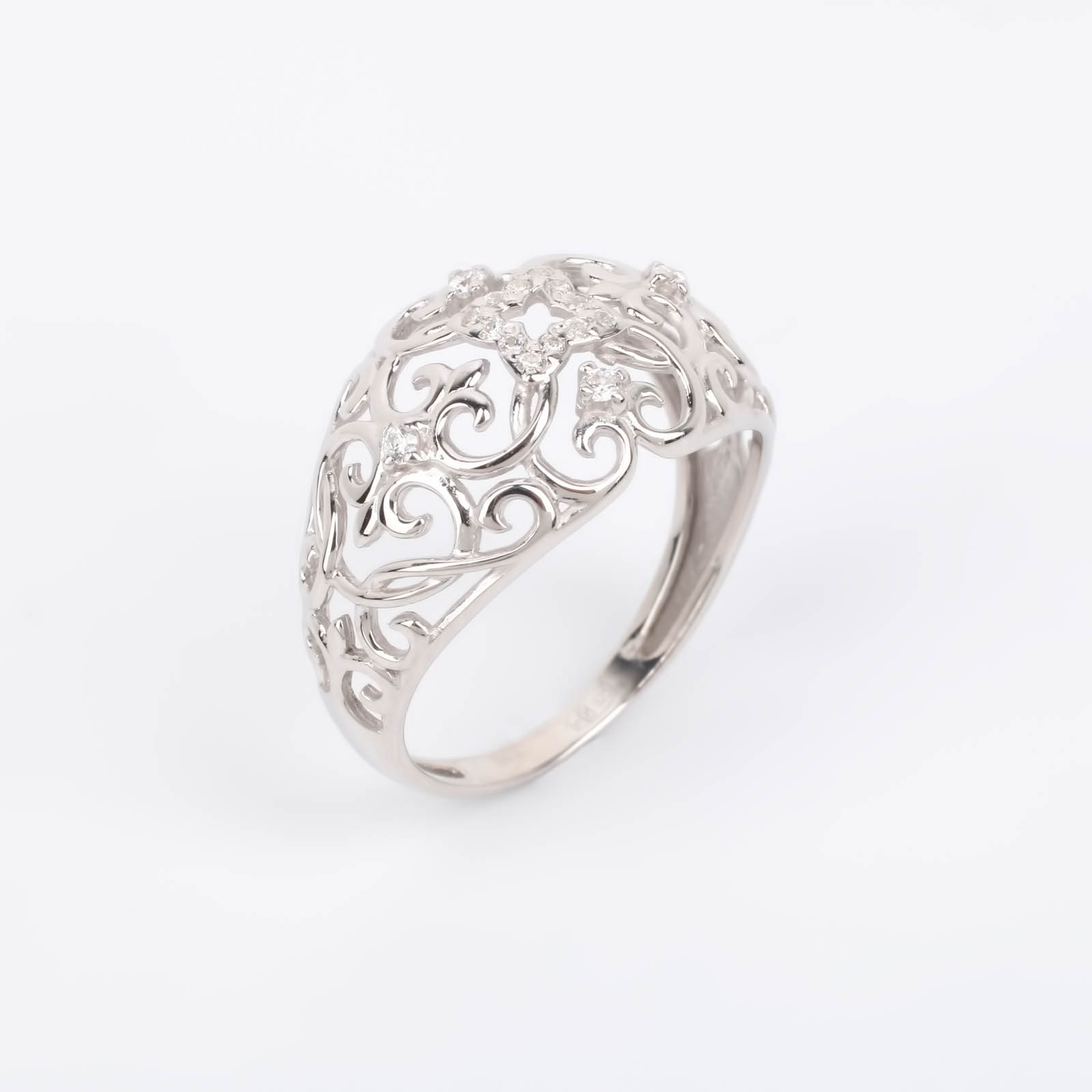 """Серебряное кольцо """"Мерцающий калейдоскоп"""""""