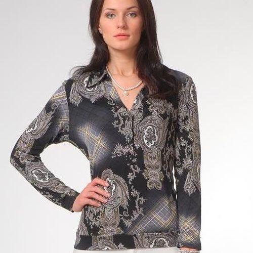 Блуза с принтом в виде византийского орнамента