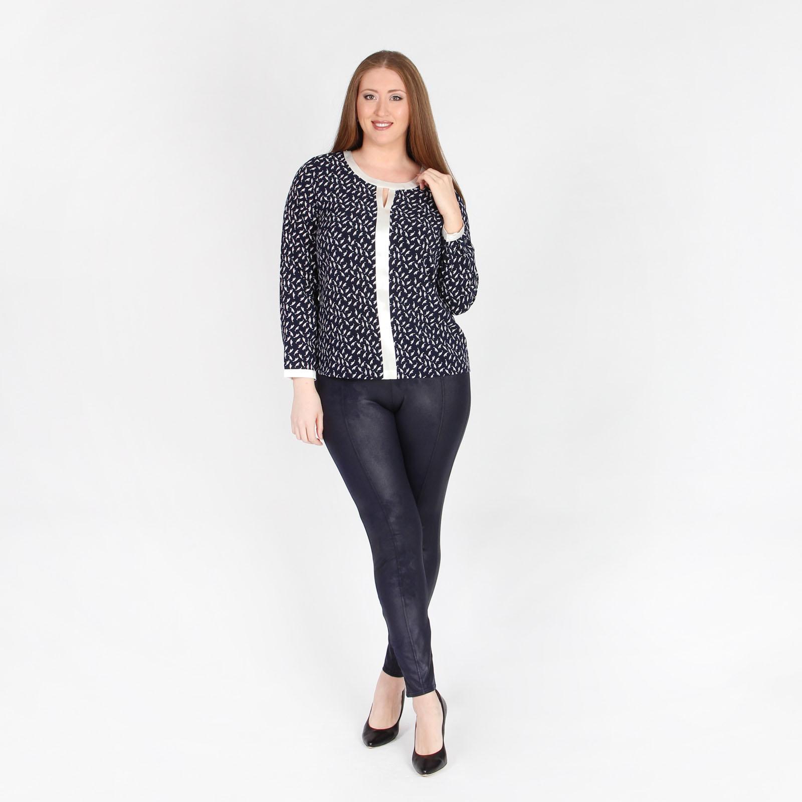 Блуза с контрастными вставками