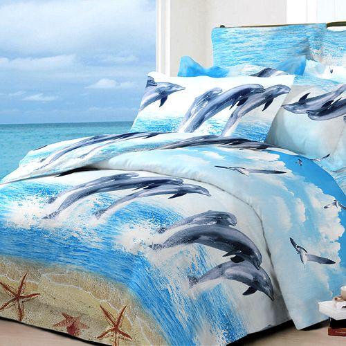 Комплект постельного белья «Дельфины»