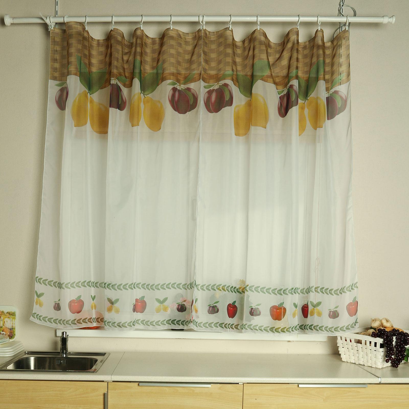 Тюль для кухни  «Фруктовое лукошко»