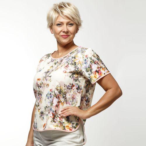 Блуза с коротким рукавом и принтом «Прованс»