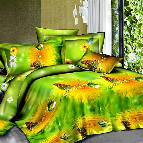 Комплект постельного белья «Георгин на зеленом»