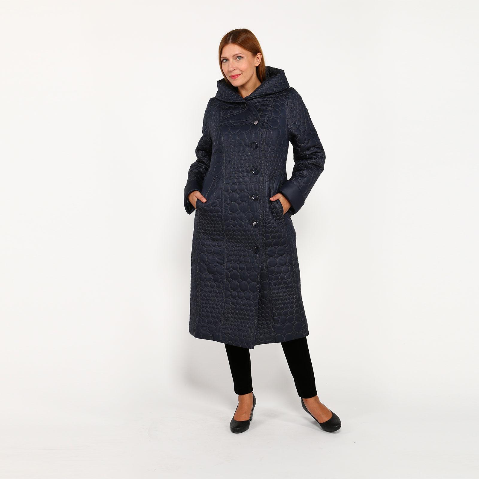 Пальто на пуговицах  с капюшоном и карманами