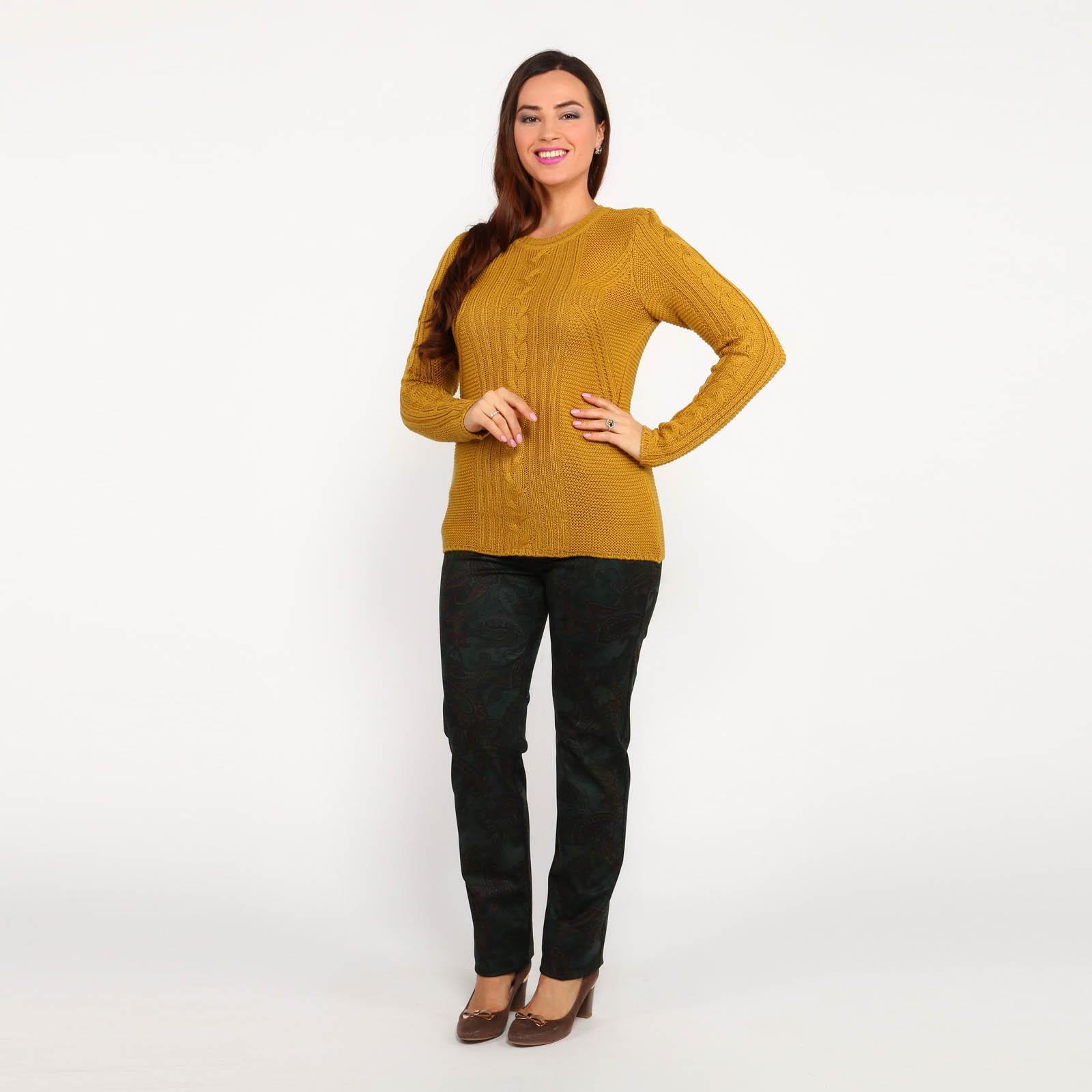 Джемпер с плетением