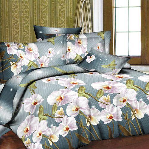 Комплект постельного белья «Орхидея антрацит»