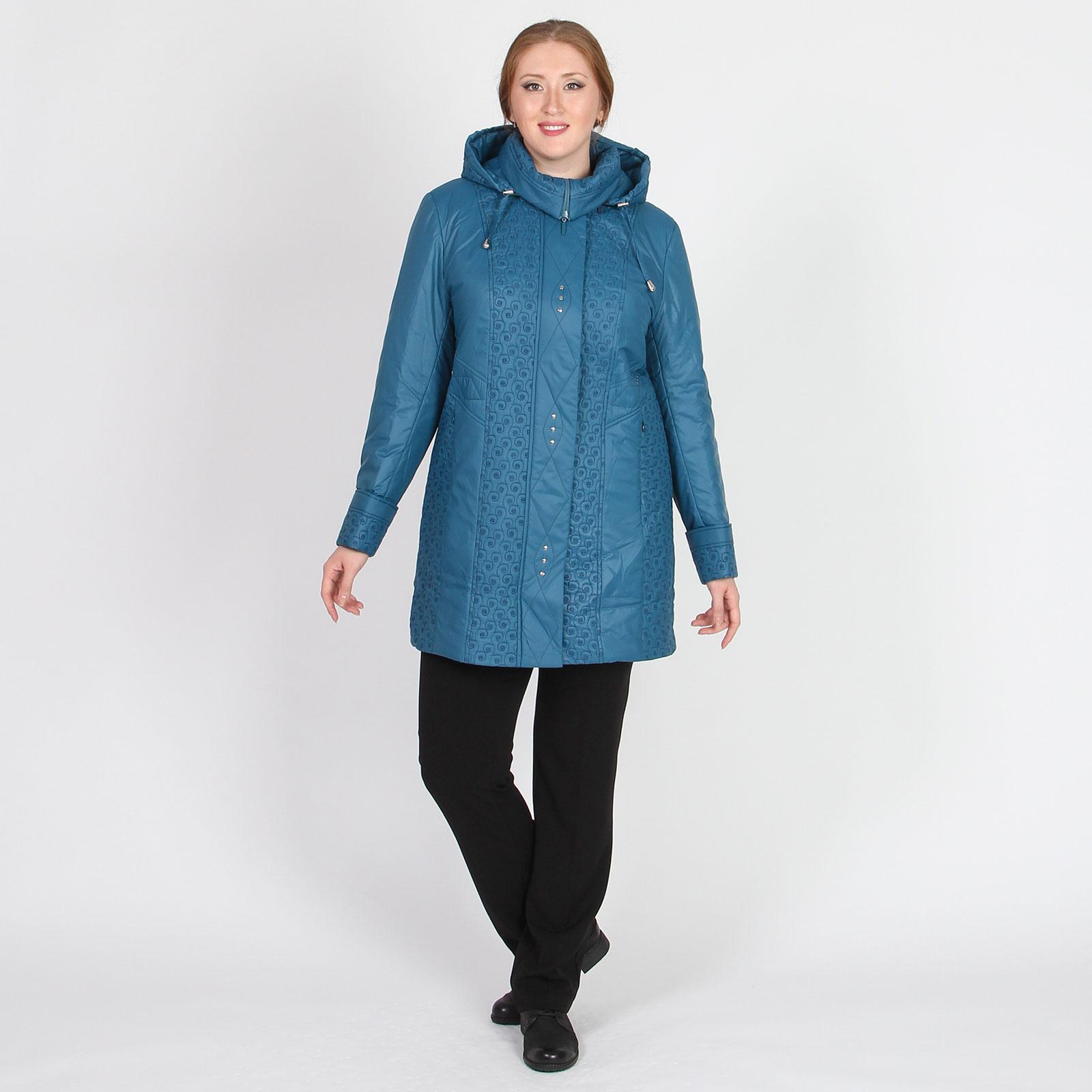 Куртка удлиненная на молнии с капюшоном
