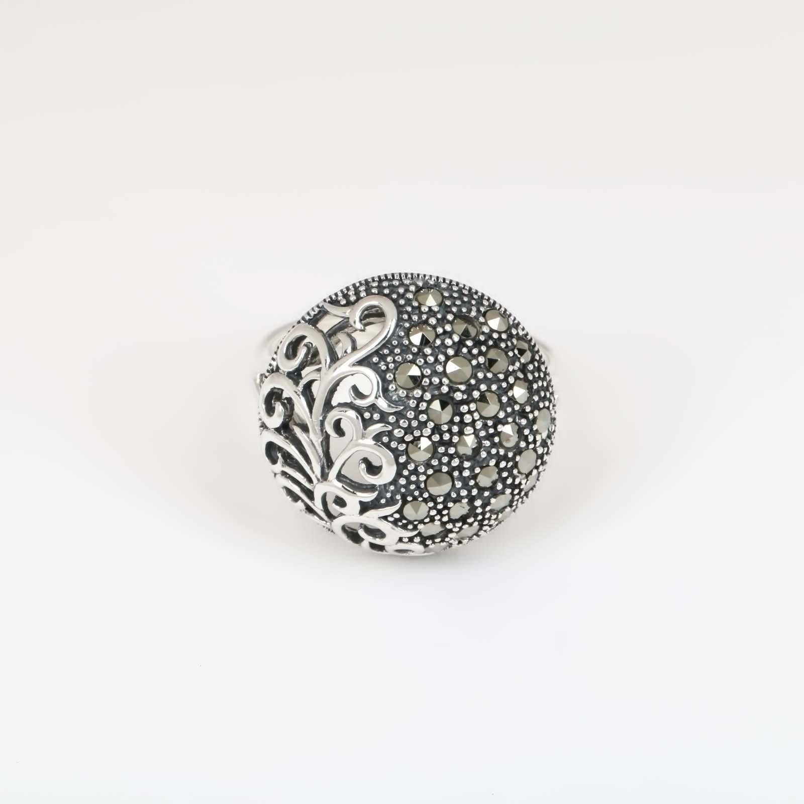 Серебряное кольцо «Снежные шары»
