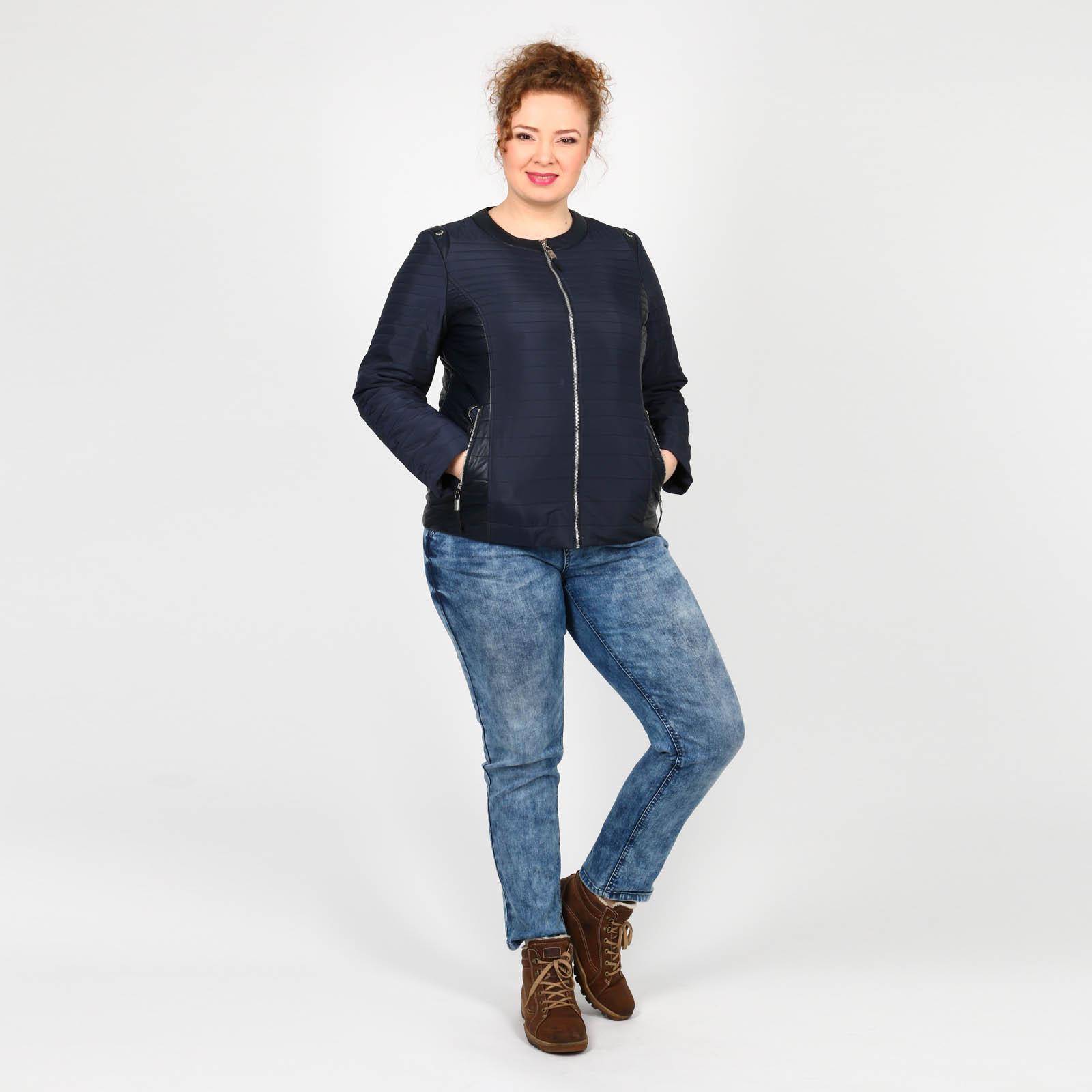 Куртка со вставками из эко-кожи