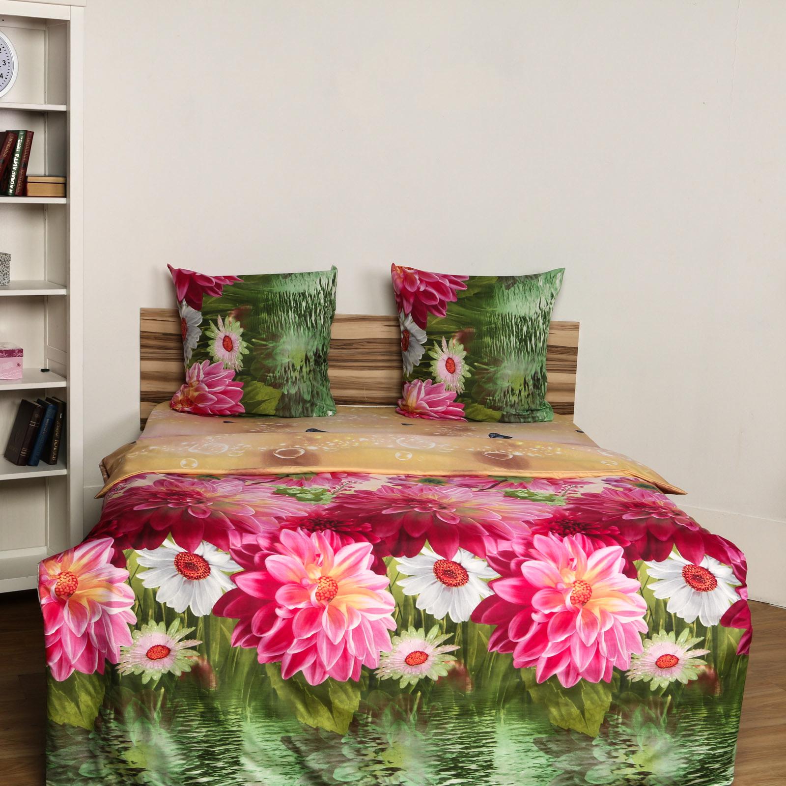 Комплект постельного белья «Розовые Хризантемы»