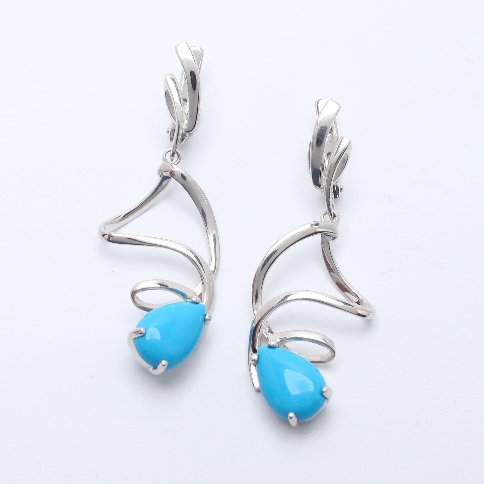 Серебряные серьги «Фуэте»