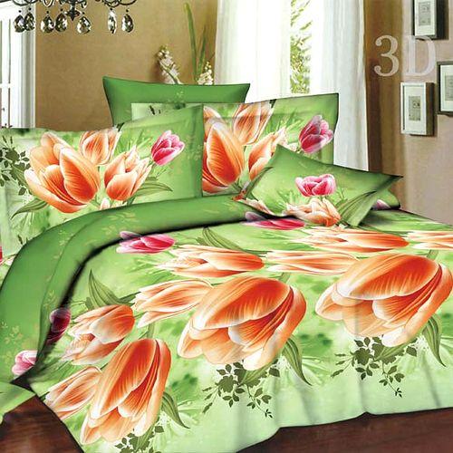 Комплект постельного белья «Тюльпаны на зеленом»