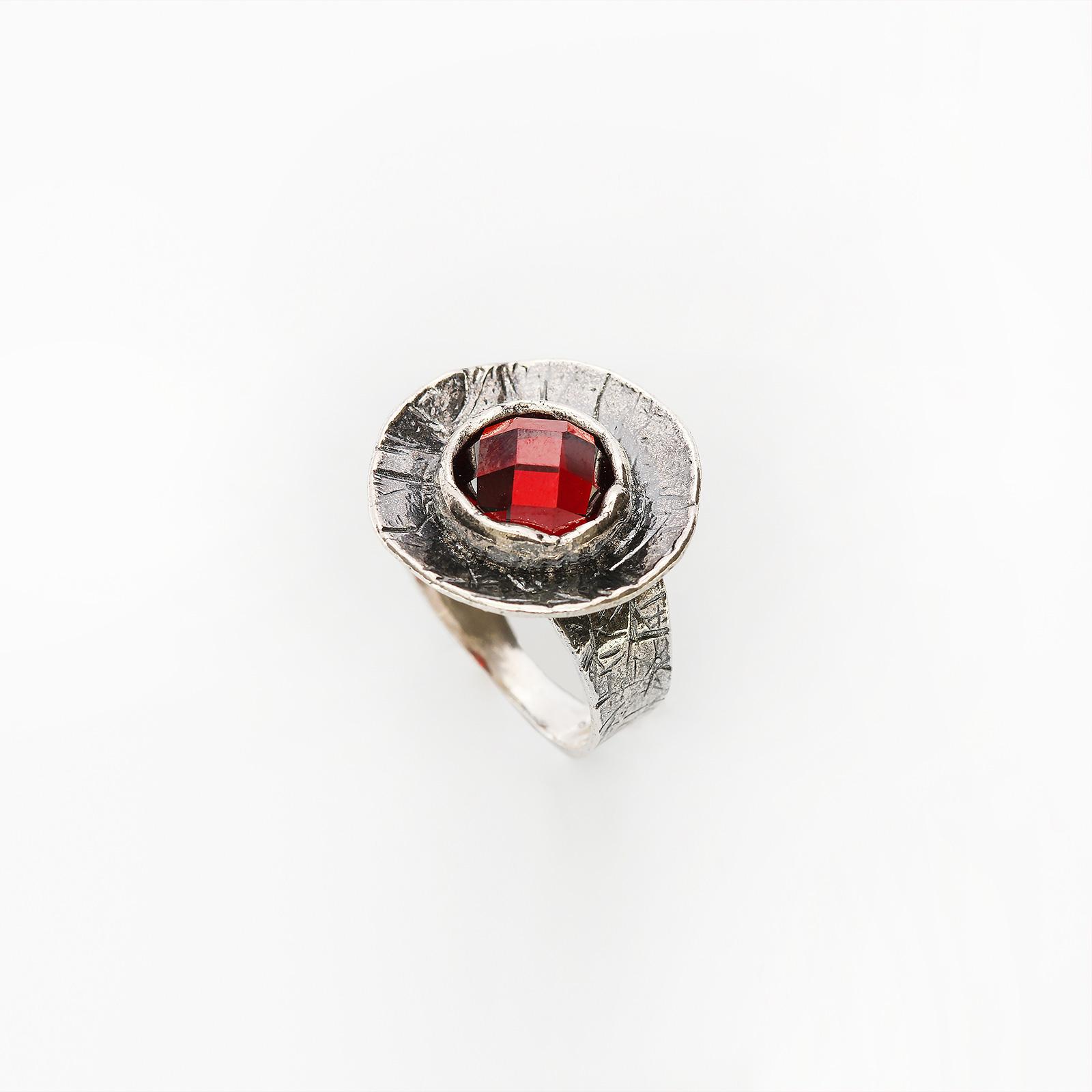 Серебряное кольцо «Аленький цветочек»
