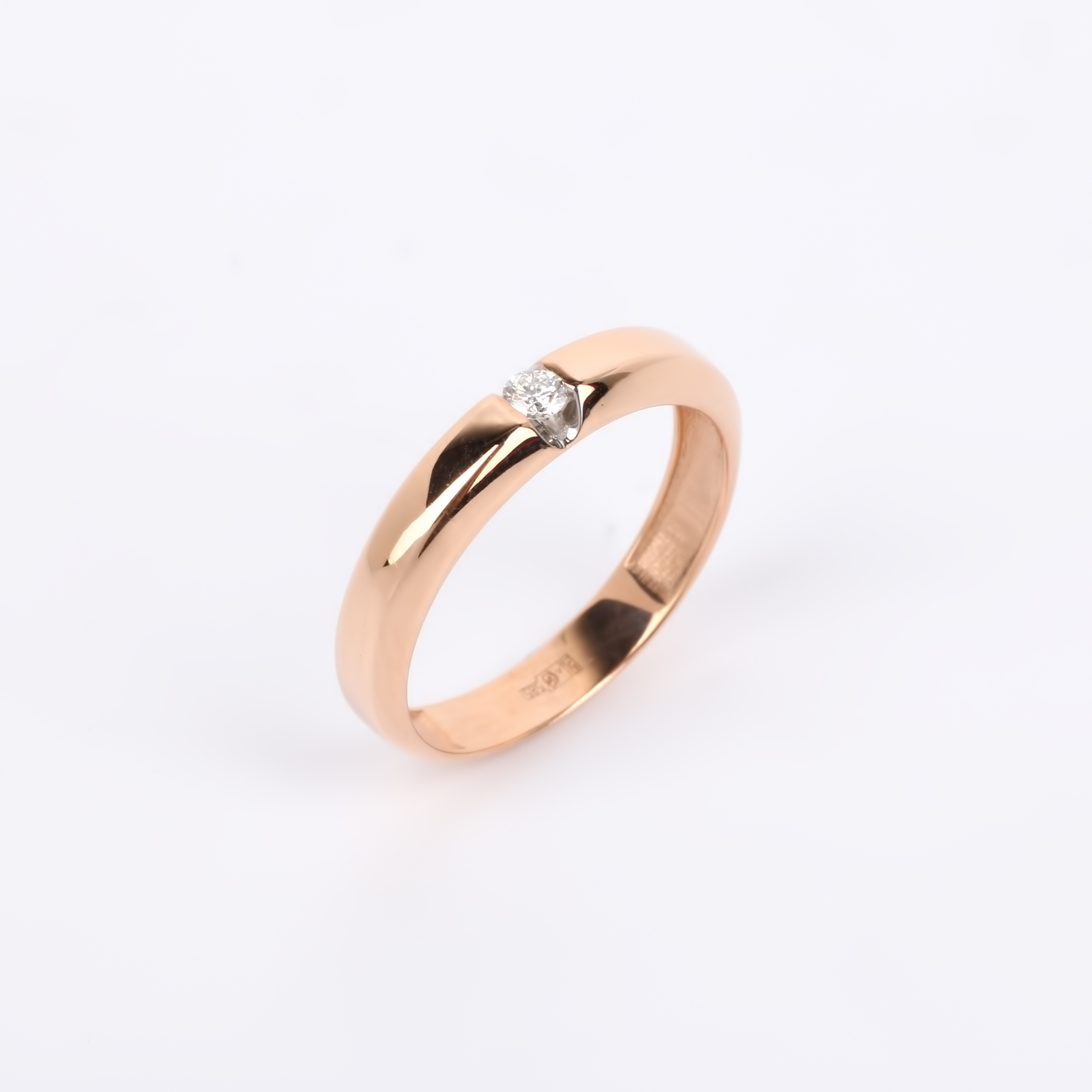 """Кольцо из золота с бриллиантом """"Элегант"""""""