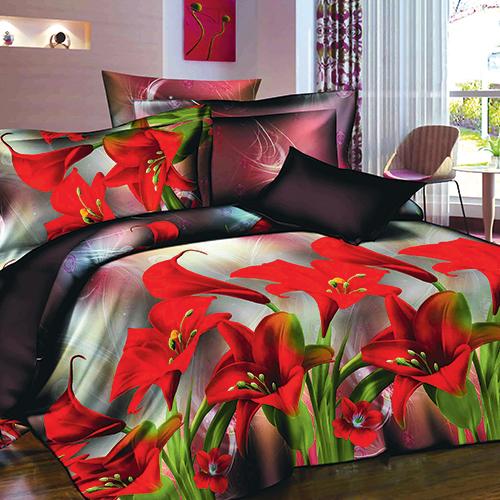 Комплект постельного белья «Алые лилии»