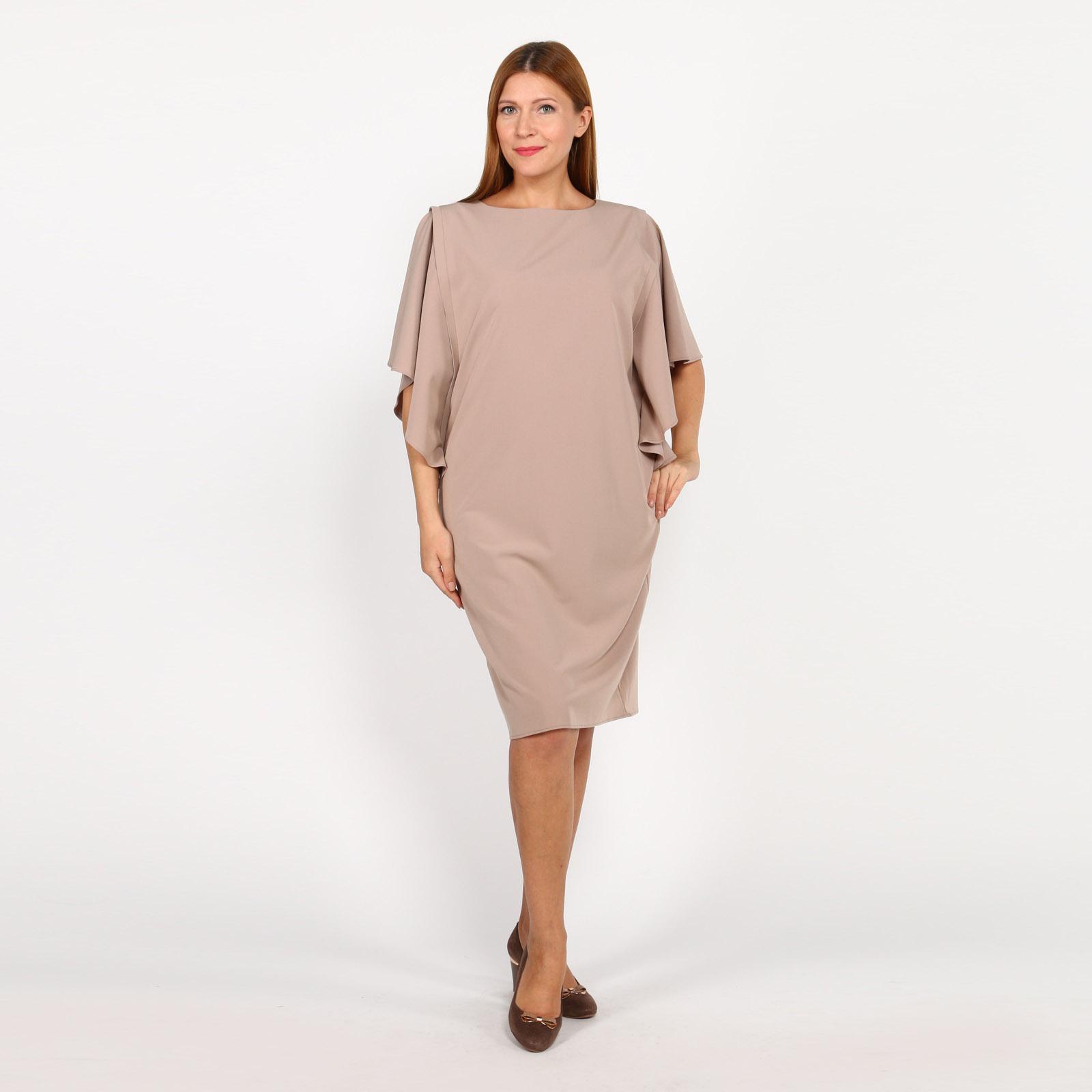 Платье прямого кроя с оригинальными рукавами рубашка gerry weber gerry weber ge002ewwra96