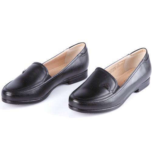 Туфли женские с закругленным мысом и эластичными вставками