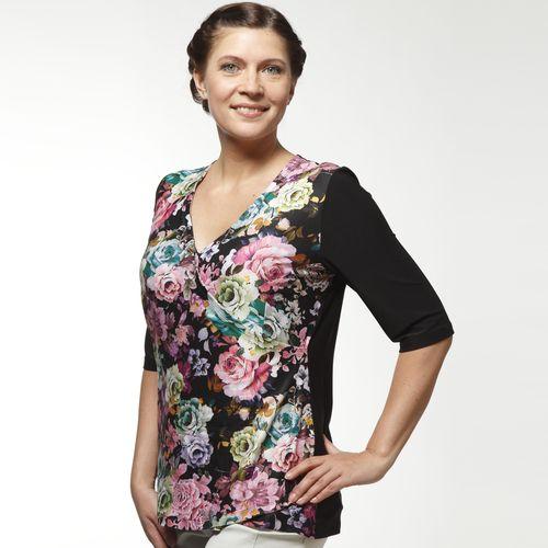 Блуза с рукавом 1/2 и цветочным принтом