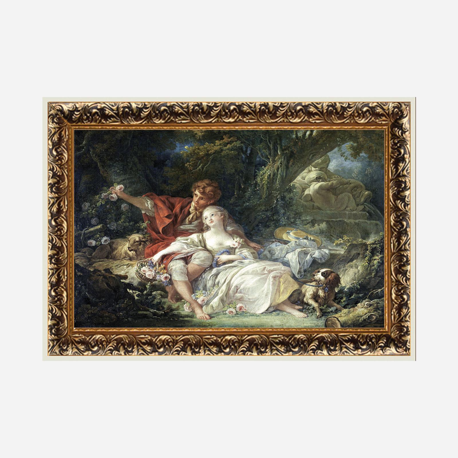 Картина на холсте в резном багете «Вместе и навсегда»