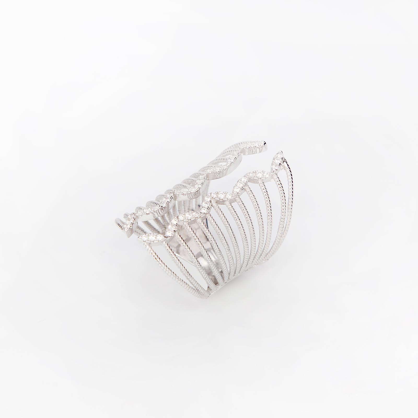 Серебряное кольцо «Квикстеп»