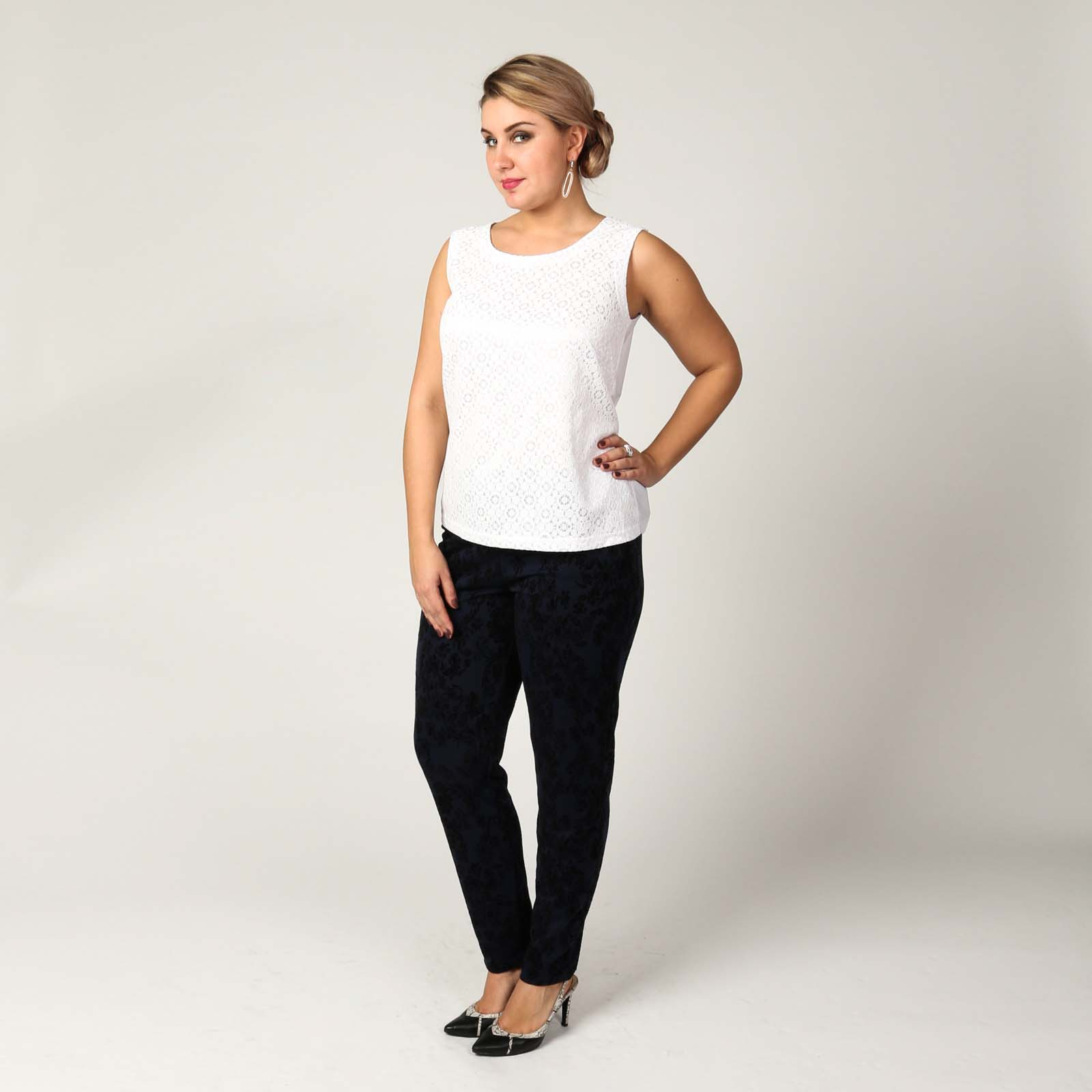 Блуза с фактурным узором