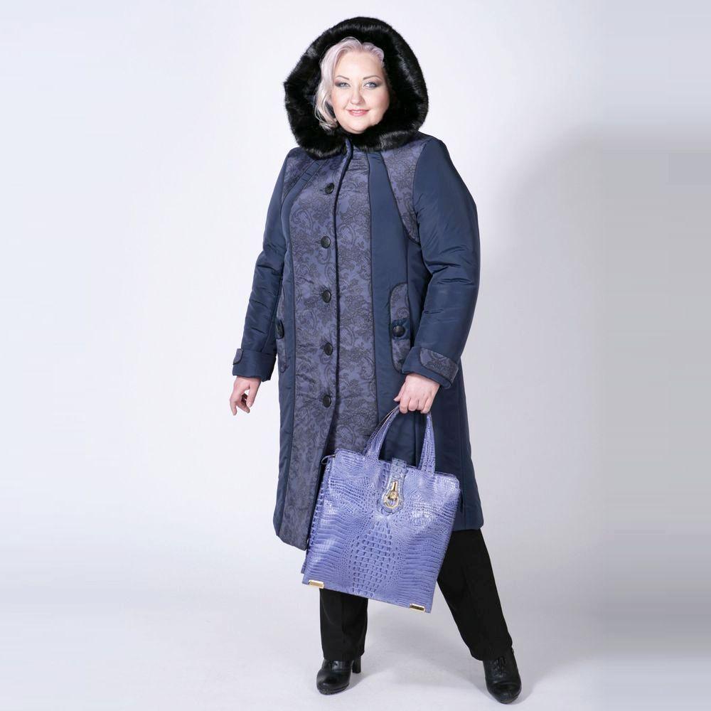 Пальто с капюшоном и контрастными вставками «Ариадна»