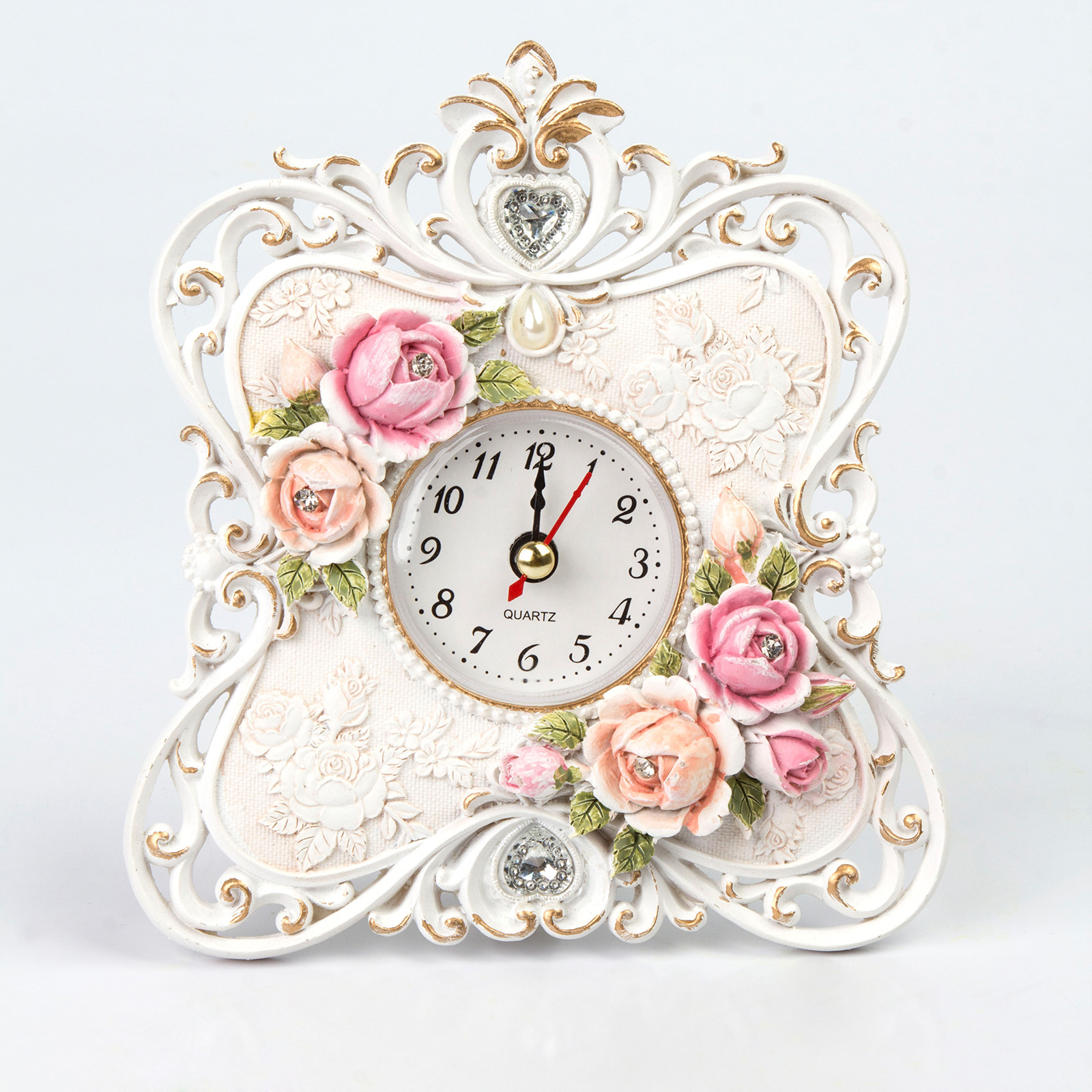 Часы настольные «Райские розы»
