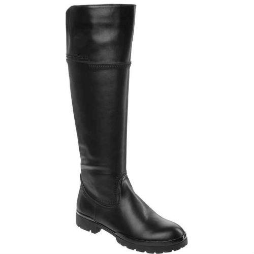 Женские высокие сапоги на устойчивом каблуке
