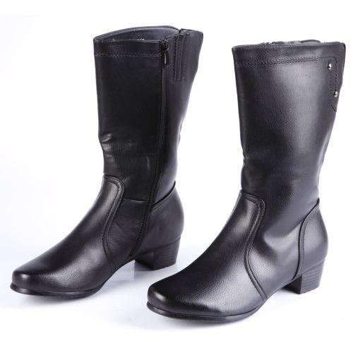 Сапоги женские на комфортном каблуке
