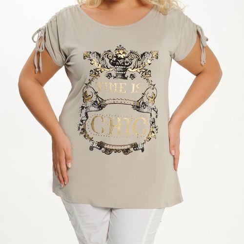 Модная футболка с кулиской на плечах