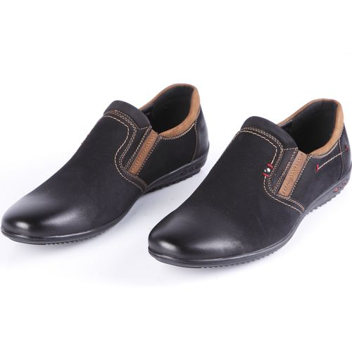 Туфли мужские декорированные строчкой