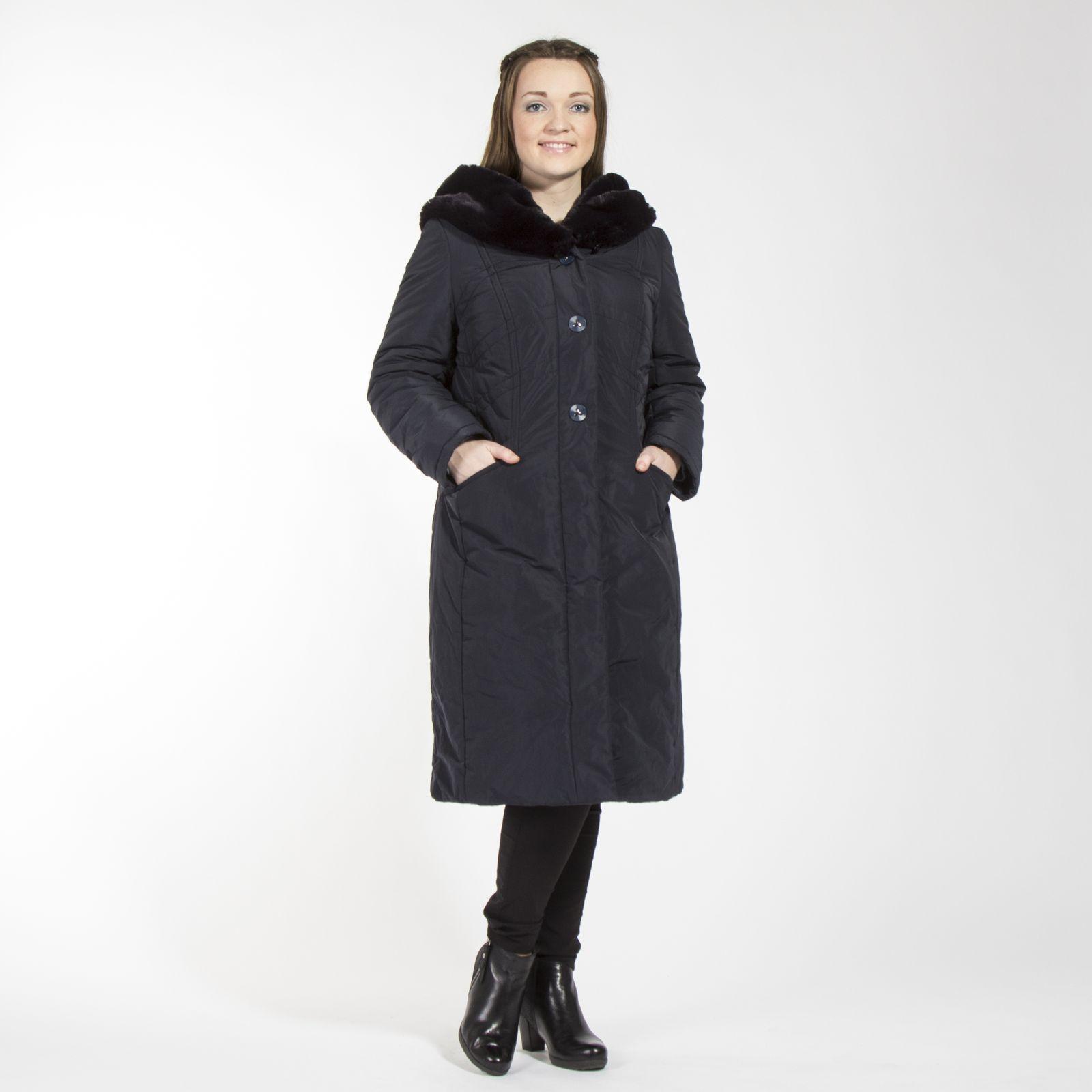 Пальто приталенное с отложным воротником
