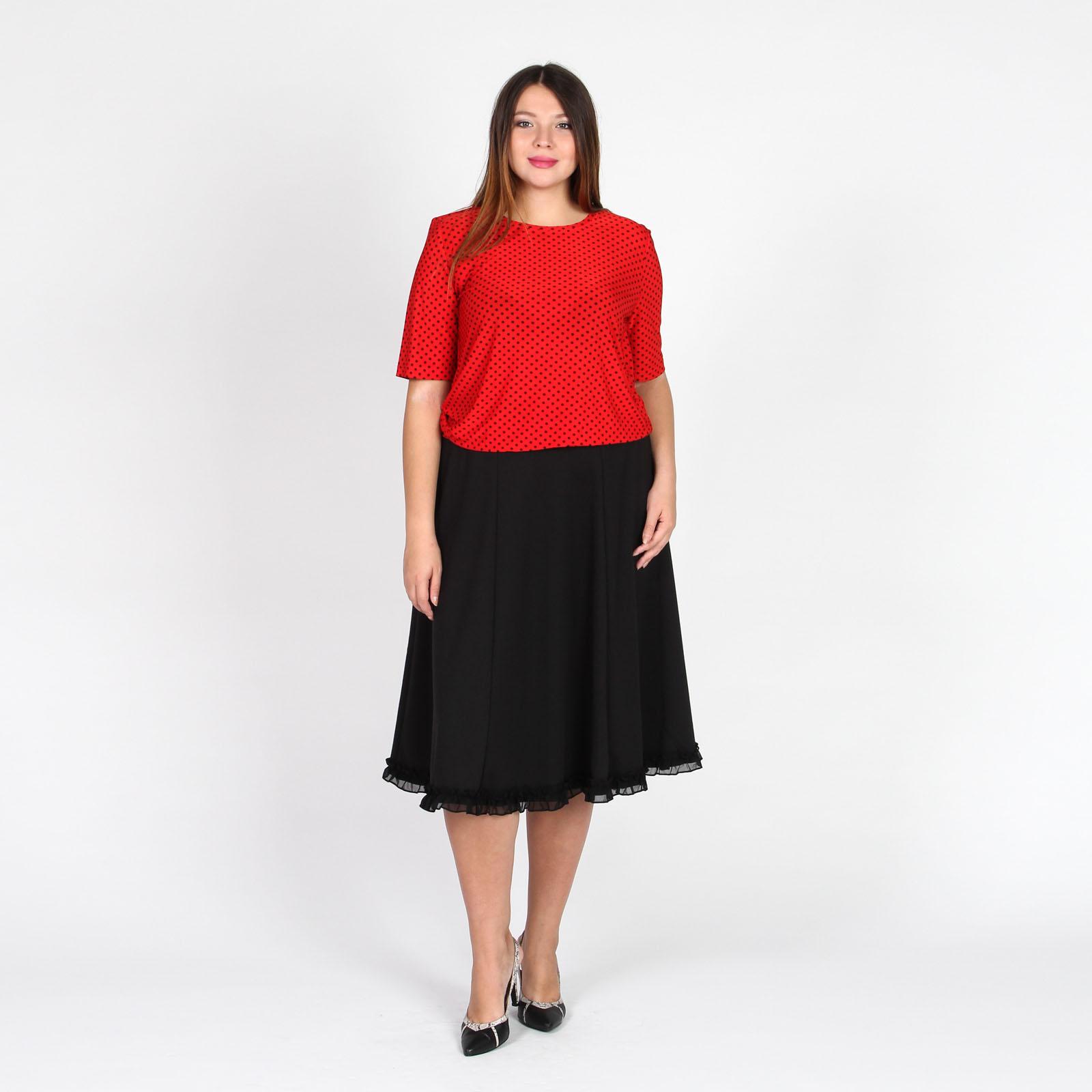 Блуза с коротким рукавом и принтом «горох»