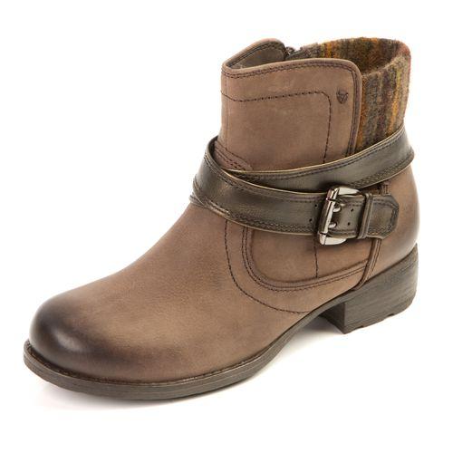 Женские ботинки из натуральной кожи с эффектом затемнения