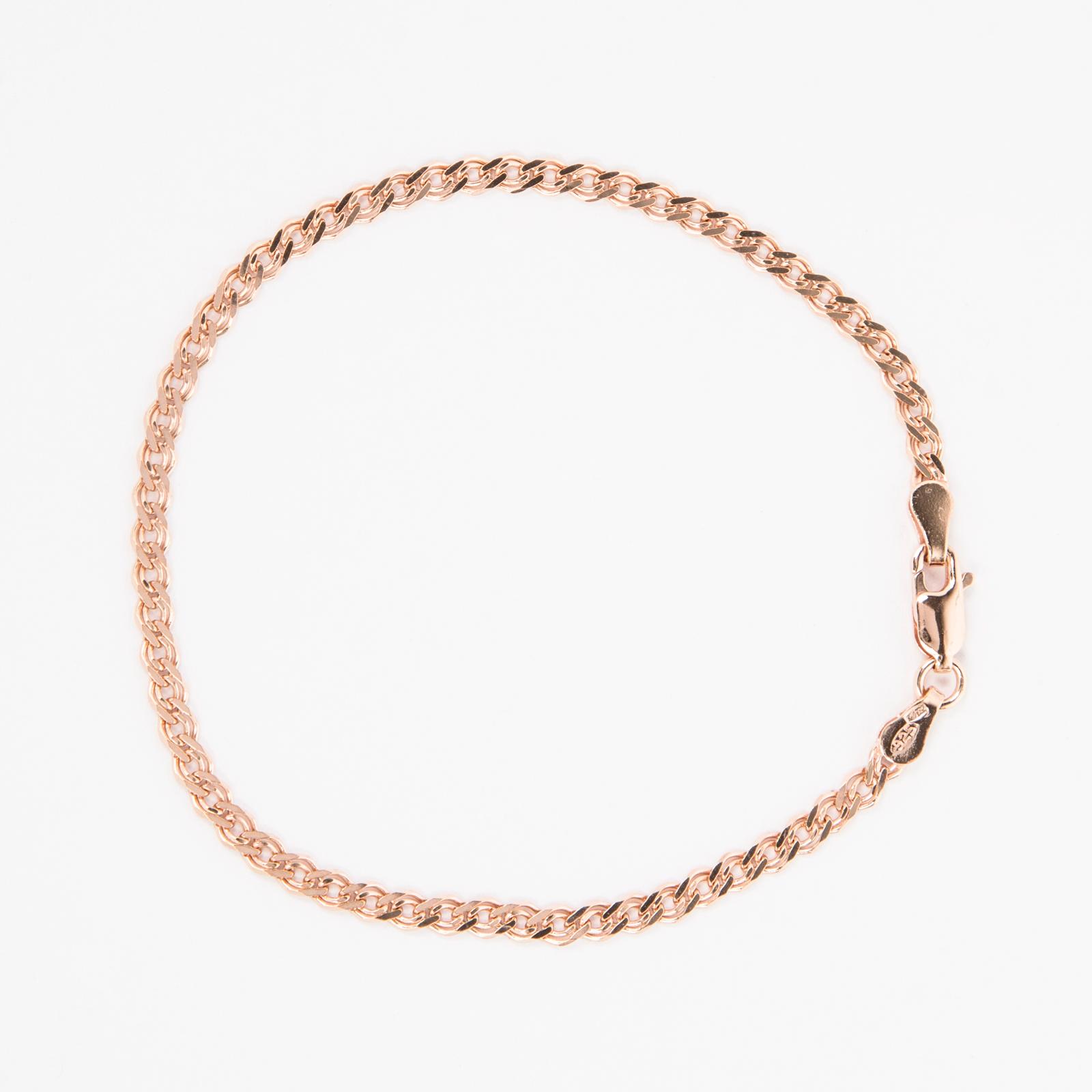 Серебряный браслет «Нонна» с позолотой