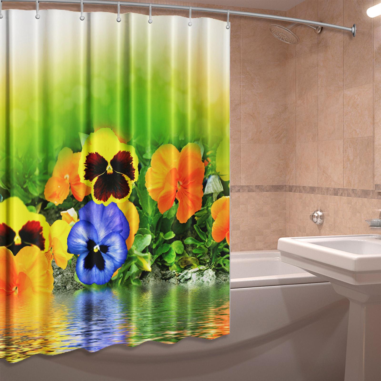 Штора для ванной комнаты «Анютины глазки»