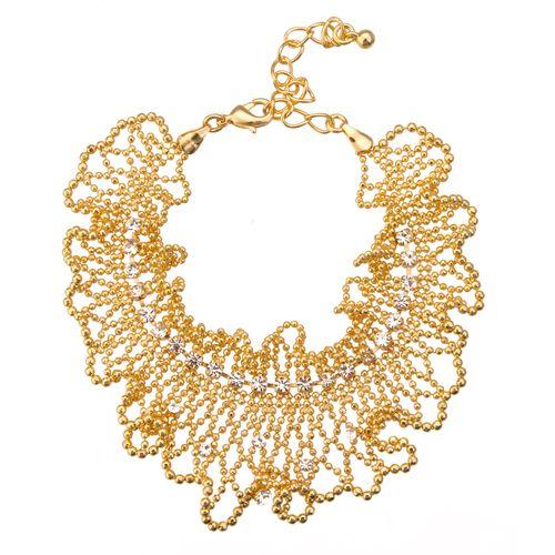Ажурный браслет «Золотой песок»