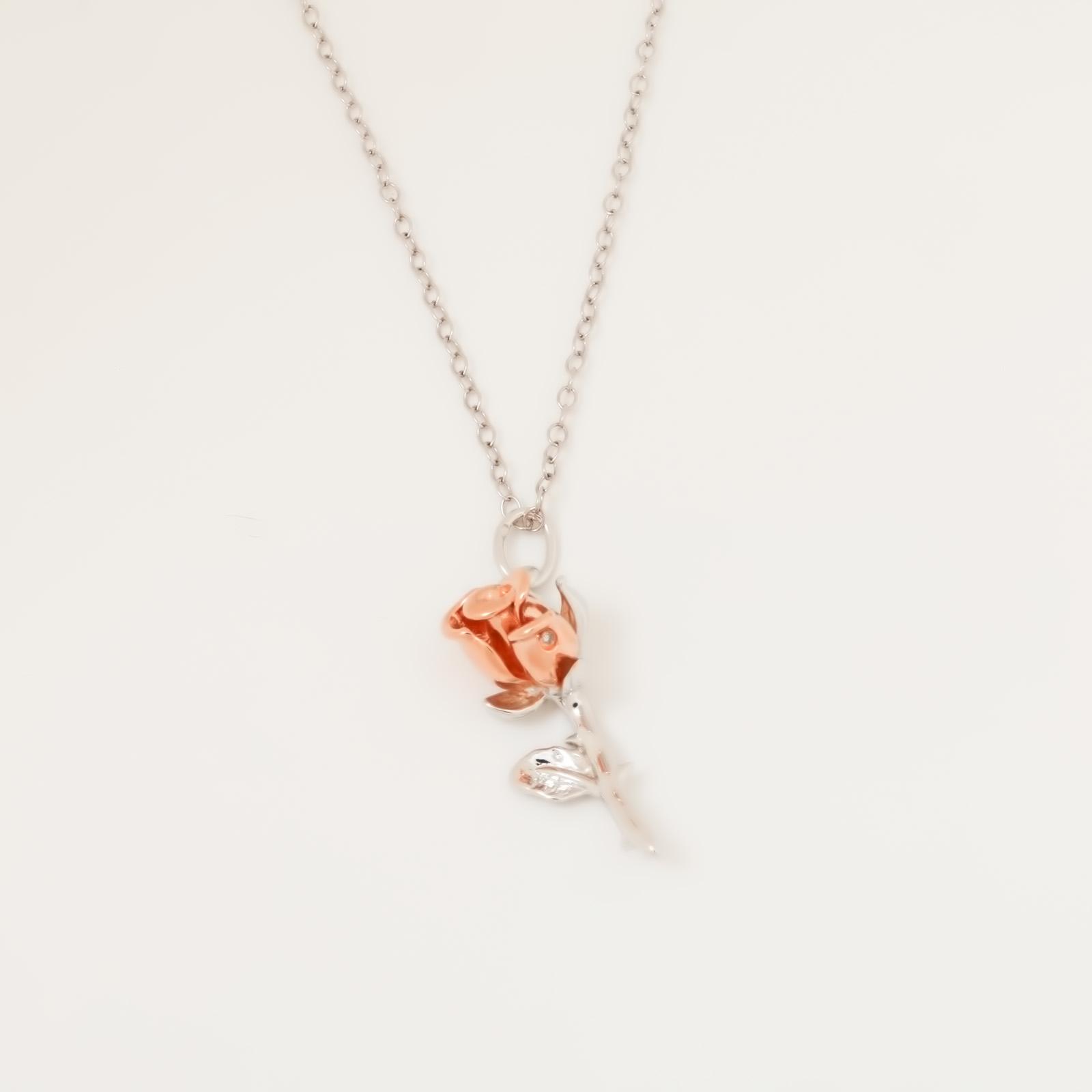 Серебряное Колье «Первая роза»