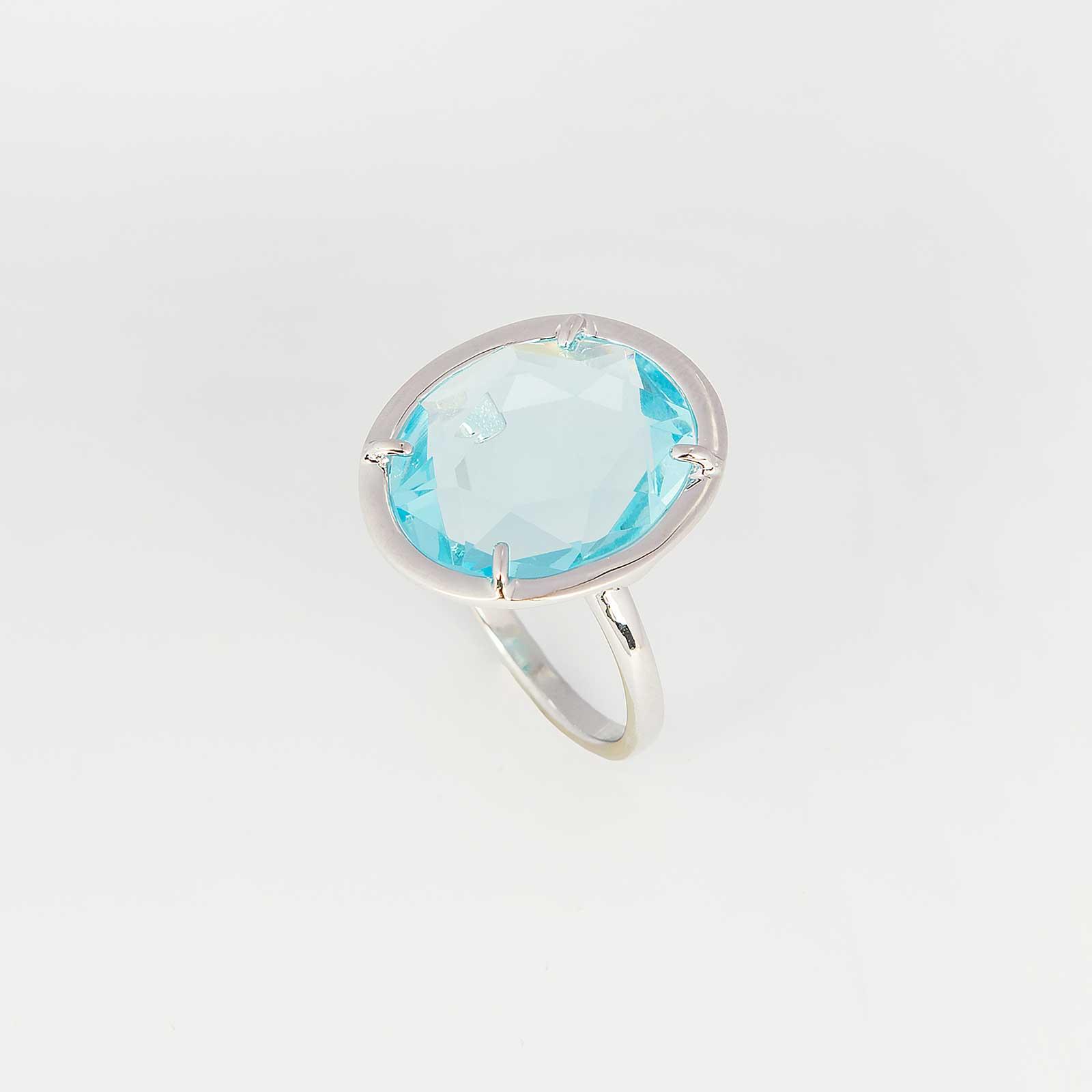 Серебряное кольцо «Сердце ангела»