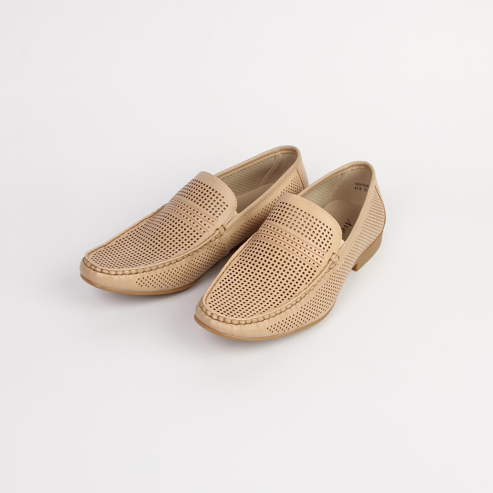 Туфли мужские перфорированные с эластичной вставкой