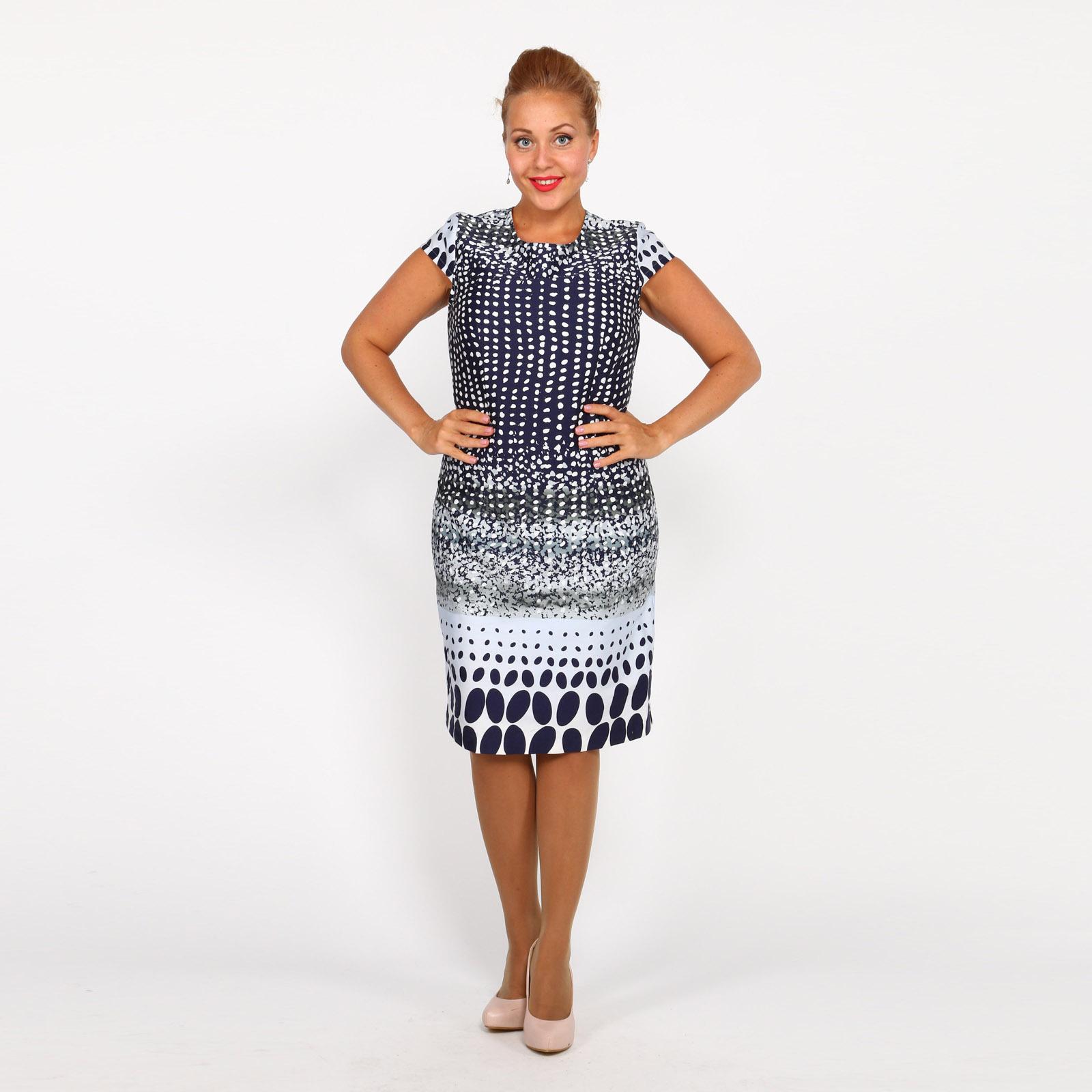 Платье-футляр с принтом и молнией сзади рубашка gerry weber gerry weber ge002ewwra96