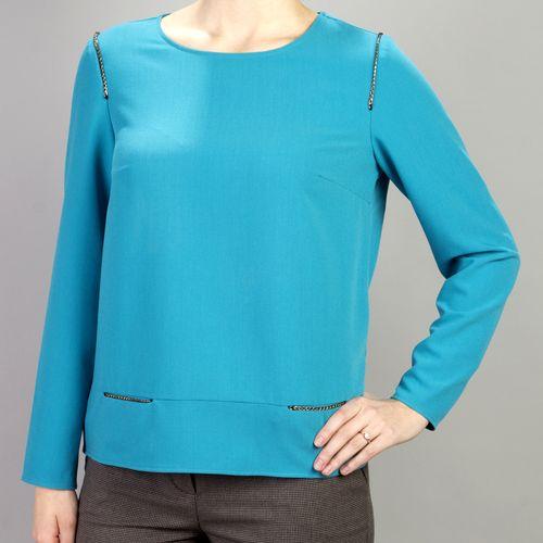 Трикотажная блуза с декором «цепочка»