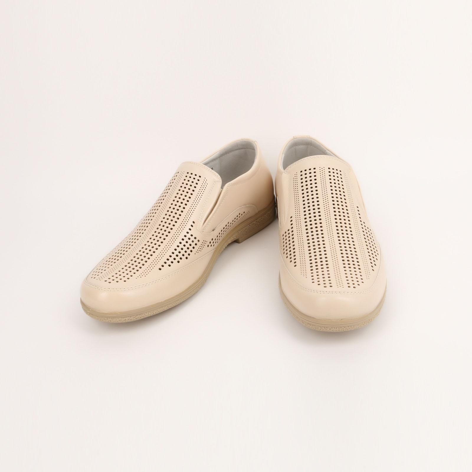Мужские туфли с мелкой перфорацией