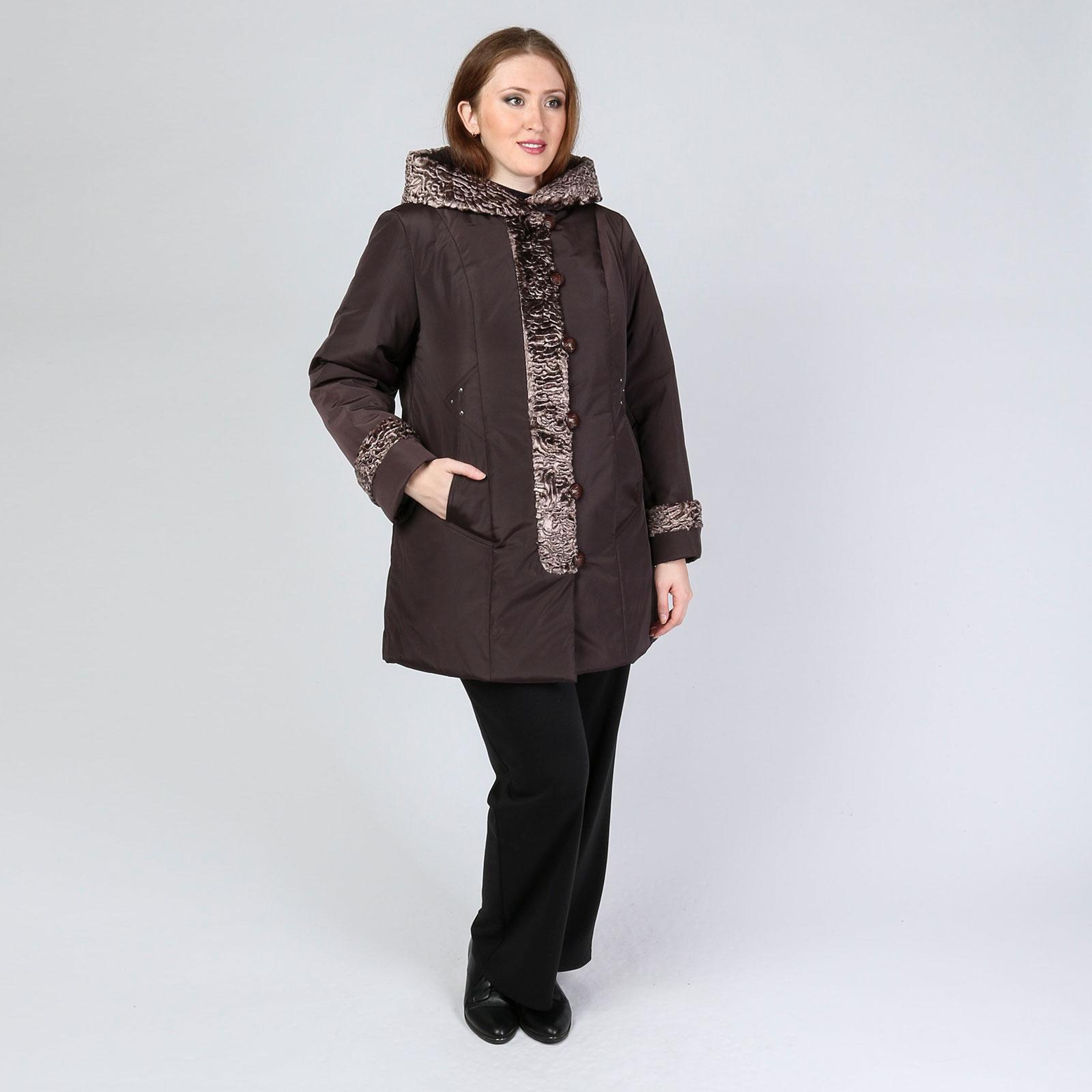 Зимняя куртка с оригинальной отделкой