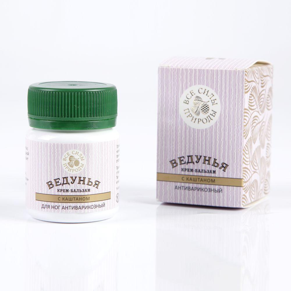 Крем-бальзам Ведунья + масло Живичное с каштаном антиварикозное