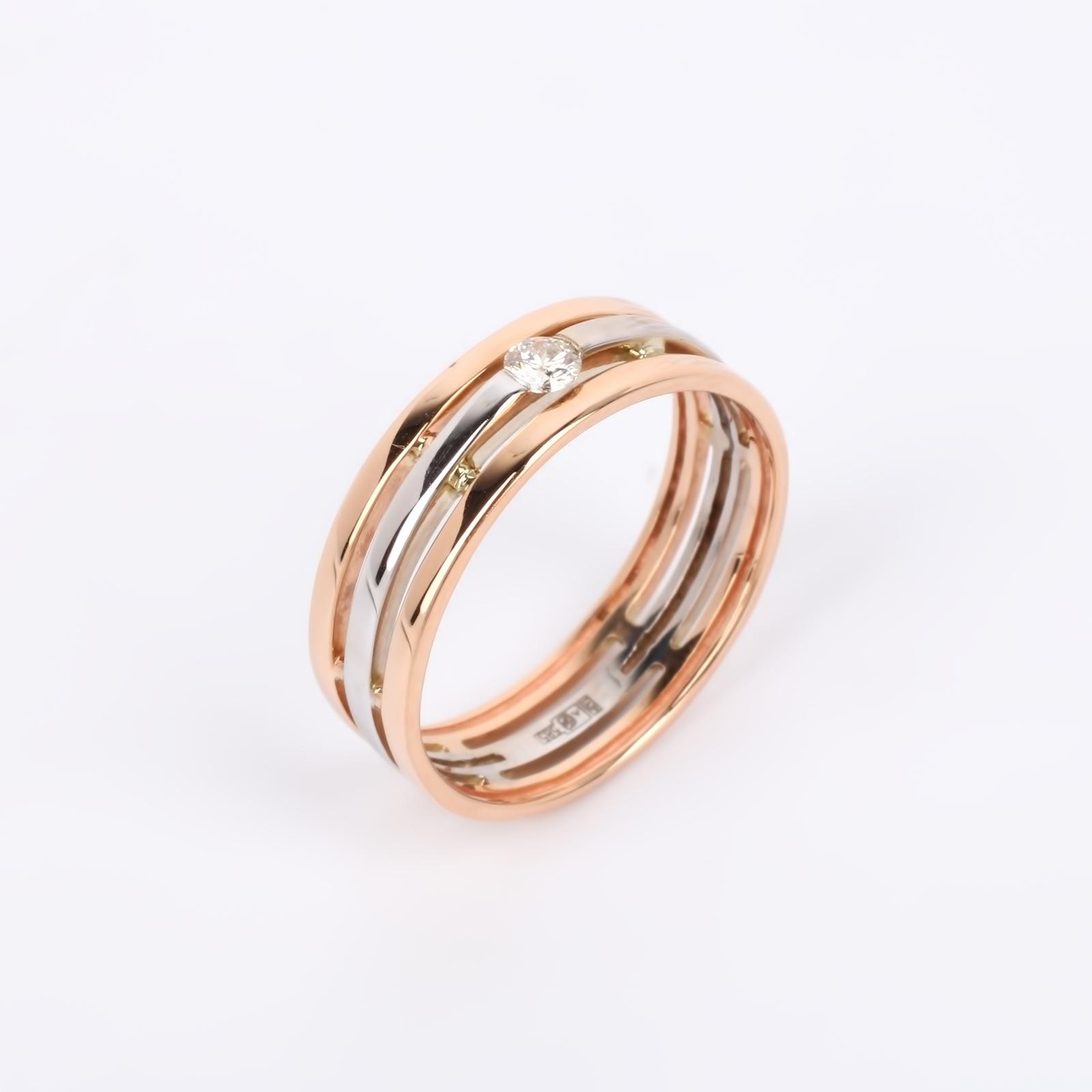 """Кольцо из золота с бриллиантом """"Эллегия"""""""